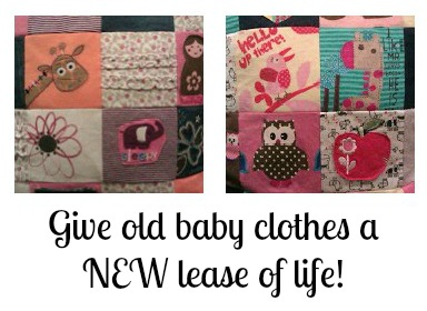 cushion covers made from old baby clothes