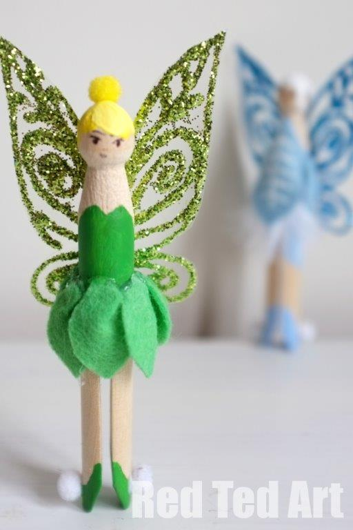 20 craft ideas to keep the kids busy tots 100 for Clothespin crafts for adults