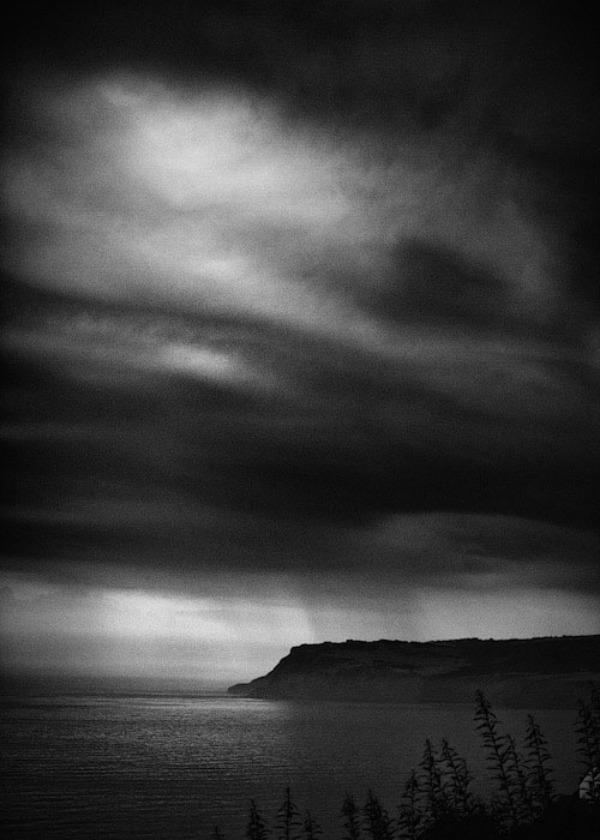 Black and white seascape