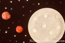 Puffy Paint Paper Plate Moon Space Craft from our Bostik Bloggers