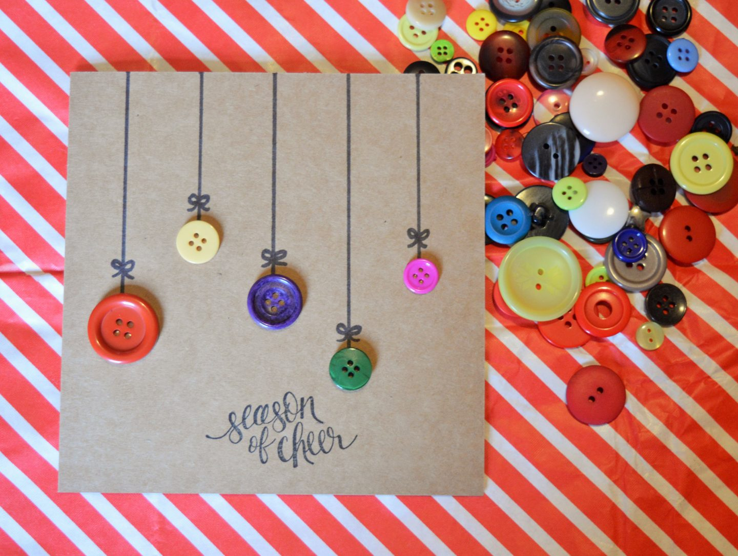 Button Bauble card from Kelly Allen Writer
