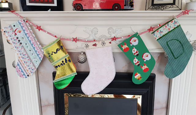 Paper Christmas Stockings from Rachael Jess