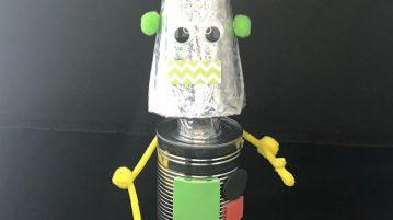 robot crafts tin can robot