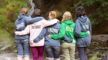 waterfall walk flea retreat