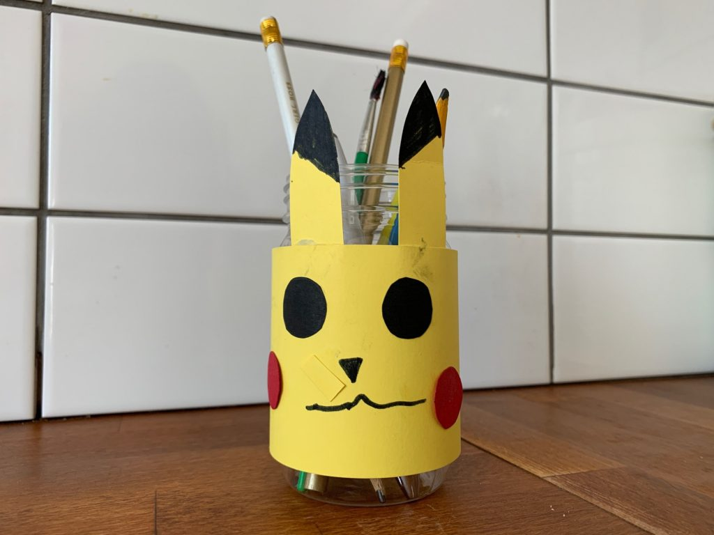 Pikachu desk tidy from The Gingerbread House