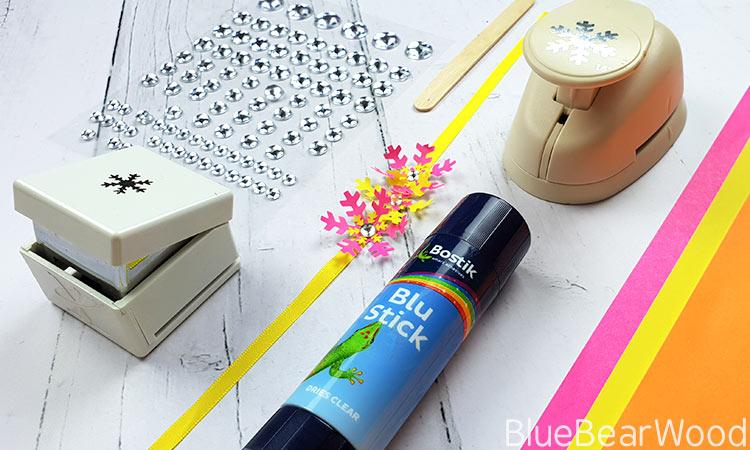 Tropical Paper Snowflake Bracelet from Blue Bear Wood
