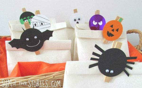 Halloween bag toppers from Sum of their Stories