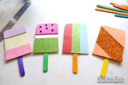 paper lolly bunting craft
